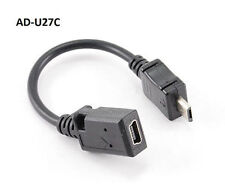 "5"" USB Micro-B Male to USB Mini-B Female Adapter Cable, CablesOnline AD-U27C"