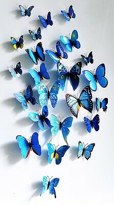 Home Decor Art Design Decal Wall Stickers Room Decorations 3D Butterfly Sticker
