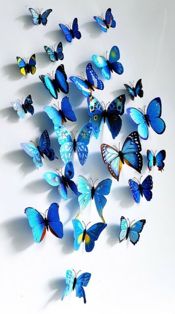 3D Butterfly Sticker Art Design Decal Wall Stickers Home Room Decoration DIY