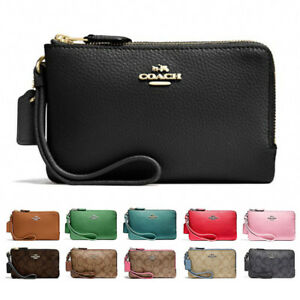 aaadf9eaf21c Image is loading New-Coach-Double-Corner-Zip-Wristlet-F87590-F87591-