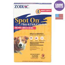 Zodiac Spot On Flea & Tick Control For Dogs & Puppies (Small Dogs 16-30 Lbs.)