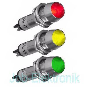 LED-Signallampe-Signalleuchte-Kontrollleuchte-Leuchtmelder-12V-230V-8mm-konkav