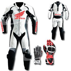 Honda-Motorbike-Motorcycle-Leather-Racing-Suit-MST-67-With-Gloves-US-40-EUR-50