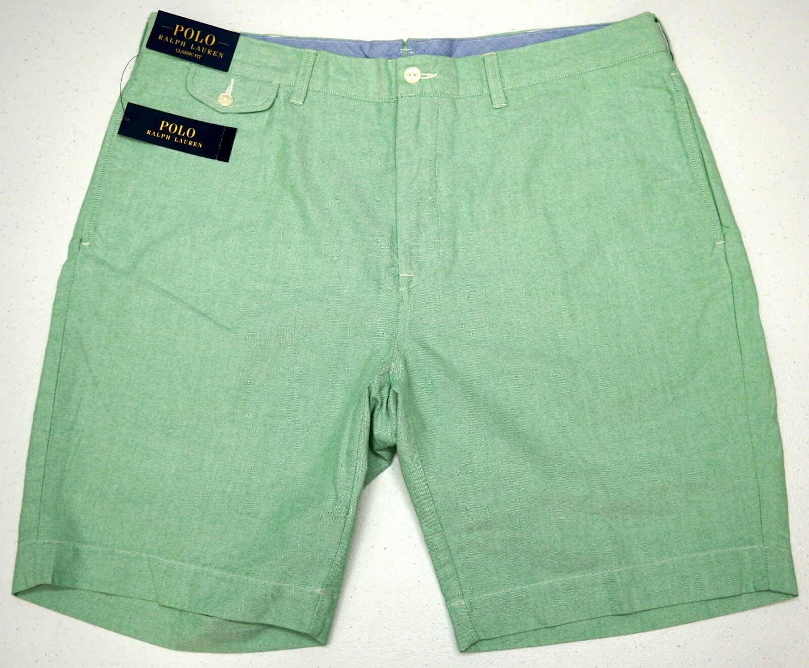 NWT  POLO CLASSIC FIT Ralph Lauren Oxford Shorts Mens Green 38 FAST SHIP NEW