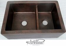 Ariellina Farmhouse 14 Gauge Copper Kitchen Sink Lifetime Warranty New AC1823