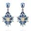 Elegant-Fashion-Women-Rhinestone-Resin-Flower-Ear-Stud-Dangle-Earrings-Jewelry thumbnail 2