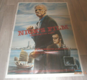 A1-Filmplakat  NICK`S FILM LIGHTHING OVER WATER   , NICHOLAS RAY ,WIM WENDERS
