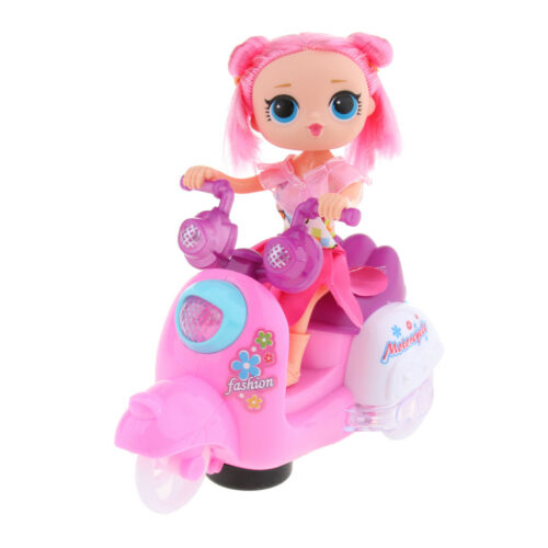 Mini Puppen Motorrad Puppenzubehör Puppen Spielzeug mit Licht und Sound