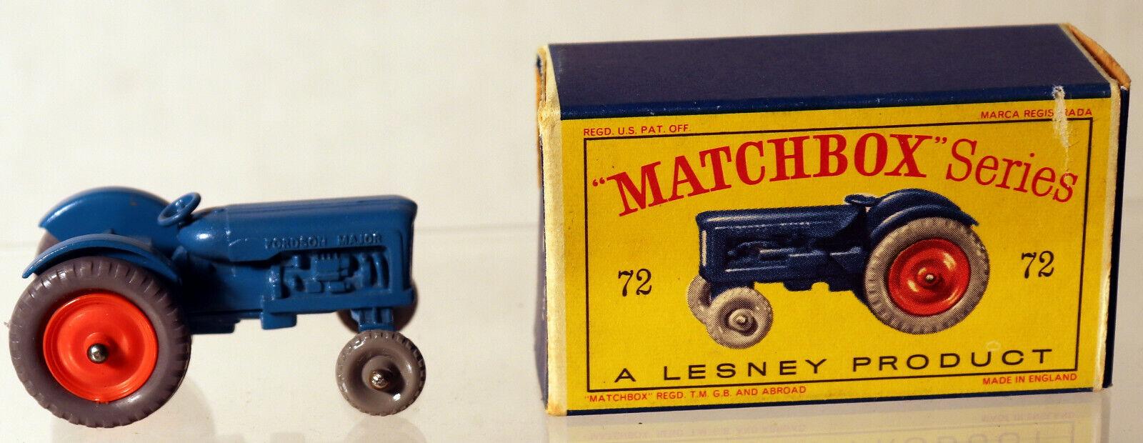 DTE LESNEY MATCHBOX REGULAR WHEELS 72-1 FORDSON TRACTOR W W W FR GPW REAR GPT NIOB da5089