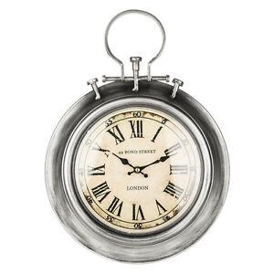 Metal-Effect-Bond-Street-Clock-London-Clocks-Vintage-Gifts-Clearance