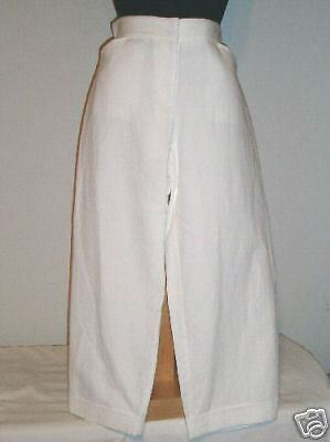 NWT Eileen Fisher White Cotton Wide Cropped Pants P S