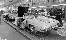 1958 Mercedes 190SL assembly Line Women at Work Photo  11 x 17  Photograph
