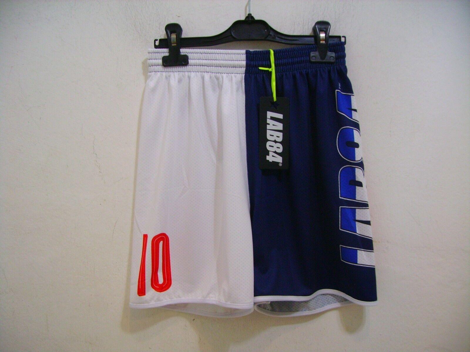 Lab84 Costume Shorts Dryfit Shtu1008flag France bluee White