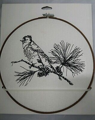 Bird Pine Embroidery Hoop Wall Decor