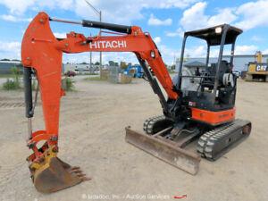 2015 Hitachi ZX35U-5N Mini Excavator Backhoe Q/C Aux Hyd Trackhoe bidadoo