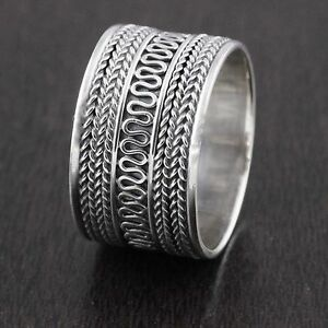 Image Is Loading Genuine Solid 925 Sterling Silver Vintage Style Bali