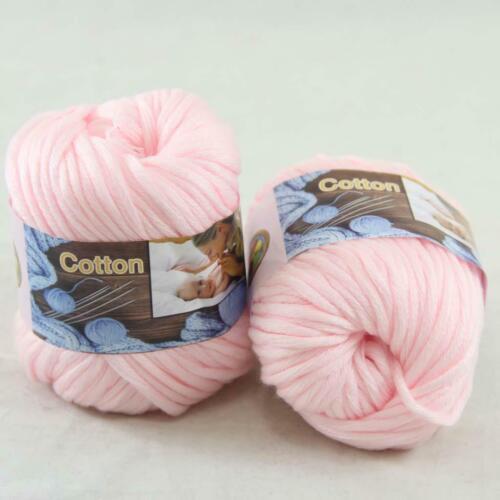AIPYARN Sale 2Ballsx50g Soft Cotton Chunky Super Bulky Hand Knit Crochet Yarn 03