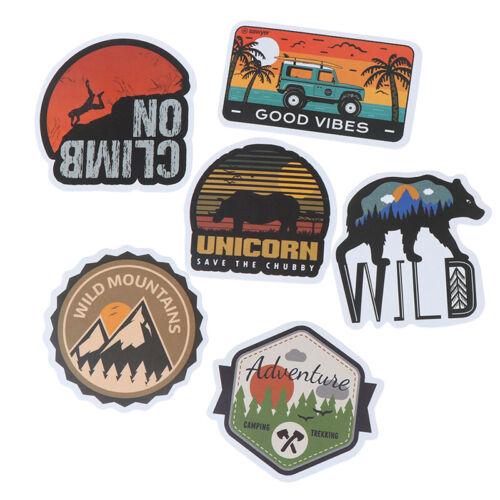 50Pcs Camping Landscape Sticker Outdoor Adventure Suitcase Laptop Guitar Stic kw