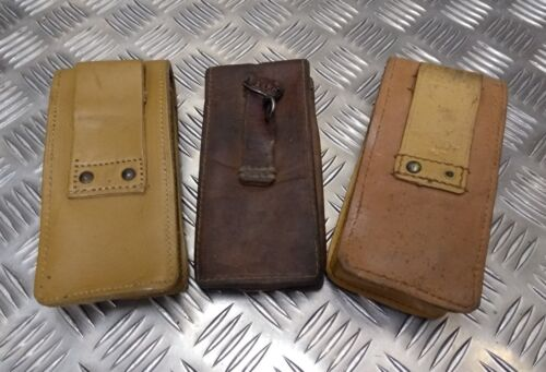 Genuine Vintage Military Issues Small Leather Ammo Utility Belt Pouch