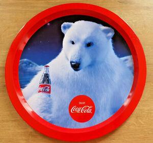 Plateau-Metal-Publicitaire-Coca-Cola-Enjoy-Ours-Polaire-Bistrot-Bar-Collection