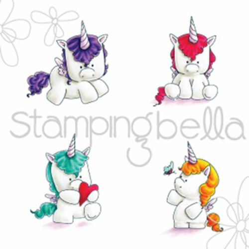 Set Of Unicorns Cling Stamps Stamping Bella