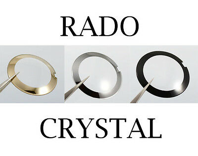 Black/grey Mirror/gold Mirror A Plastic Case Is Compartmentalized For Safe Storage Rado Jubilee Dome/curved/convex Watch Crystal Jewelry & Watches