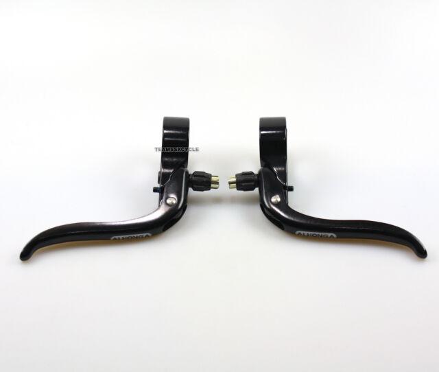 Black Alloy 26.0mm NEW Cross // Top-Mount Road Bike Brake Lever Set