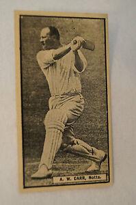 1932-Vintage-Rover-Boys-Cricket-Card-A-W-Carr-Notts