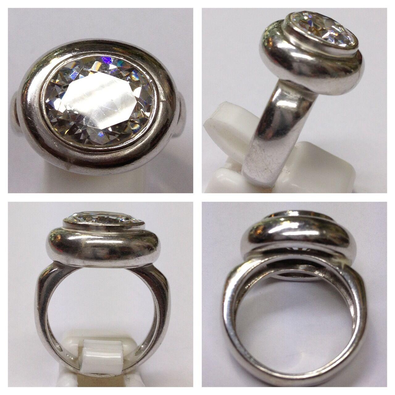 Anello 925er silver con color pietra accessori in silver anello in silver
