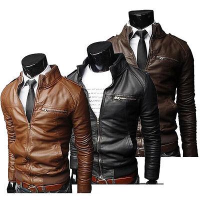 Mens Slim Fit Jacket Pullover Hoodie black brown winter sweatshirt jackets hood