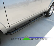 """3"""" Black Side Step Nerf Bars For 99-04 Nissan Frontier Crew Cab (Short Bed Only)"""