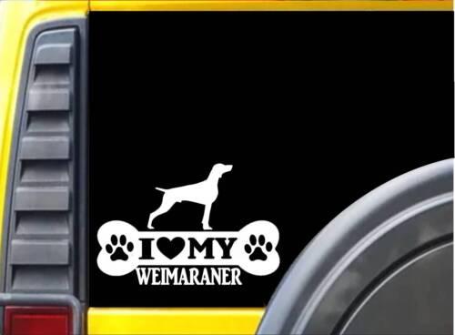 Weimaraner Bone L001 8 inch Sticker dog decal