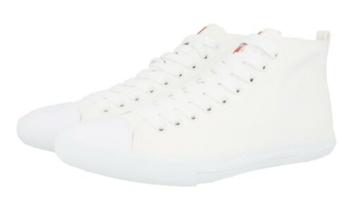 New High 5 6 41 5 de haute top gabardine tennis qualitᄄᆭ blanche Chaussures de Prada 40 4t2583 ymO8n0PNvw