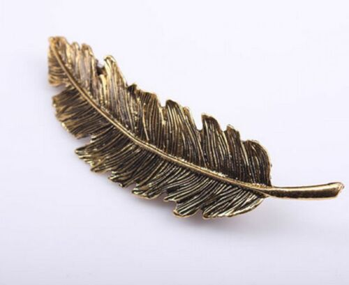 1PC Vintage Women/'s Hair Accessory Feather Leaf Hairpin Hair Clip Christmas Gift