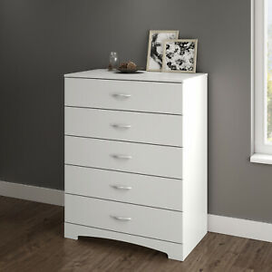 5 Drawer Wooden Dresser Chest Drawers