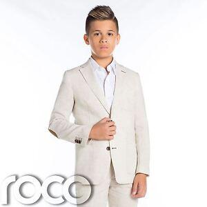 Jungen Leinen Anzug Hochzeitsanzug Beige Anzug Ebay