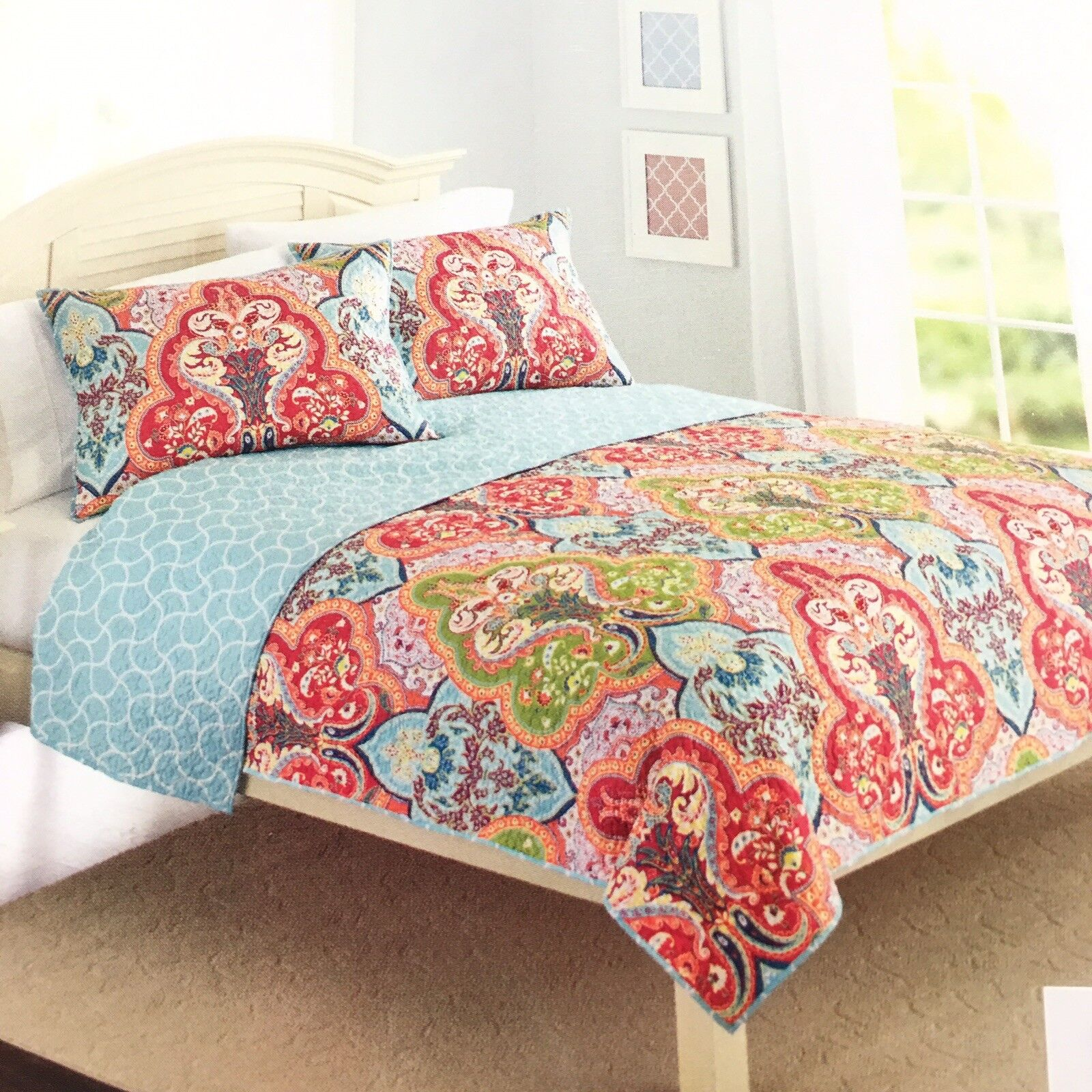 Better Homes and Gardens Quilt Collection, Jeweled Damask Größe  Full   Queen