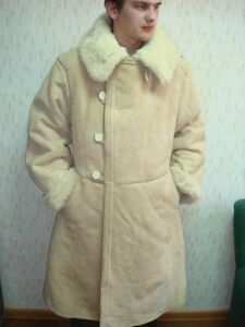 USSR Soviet army Winter Sheepskin Coat TULUP Bekesha Very Warm ...