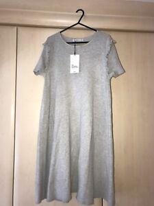 5b3da2ef Image is loading Zara-Knitted-Grey-Dress-Size-L