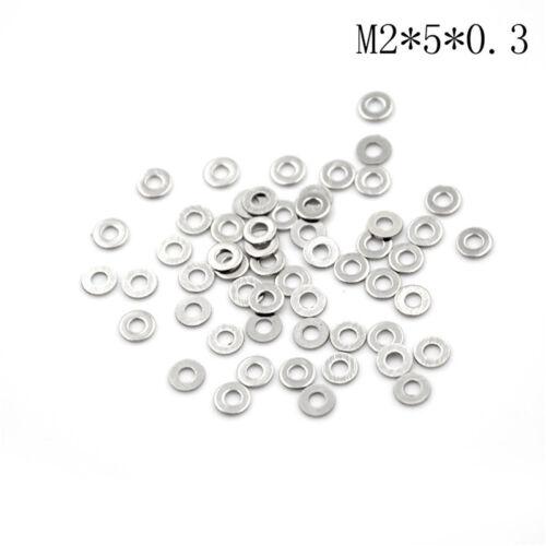 Hot 50Pcs 304 Edelstahl Flach-Maschine Waschmaschine UnterlegscheibeDichtungenSE