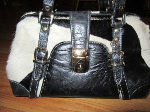 Paolo Black White Selten 9y Leder Handtasche Schlᄄᄍssel Haar wf8xdq5
