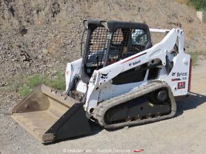 2014 Bobcat T590 Skid Steer Rubber Track Loader Crawler Aux Hyd Diesel bidadoo