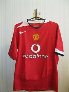new style 78062 071b8 Details about Manchester United 2004/2005/2006 Size S Home Nike shirt  jersey football soccer