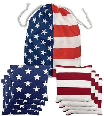 Regulation Size /& W Weather Resistant Cornhole Bean Bags Set of 8 Duck Cloth