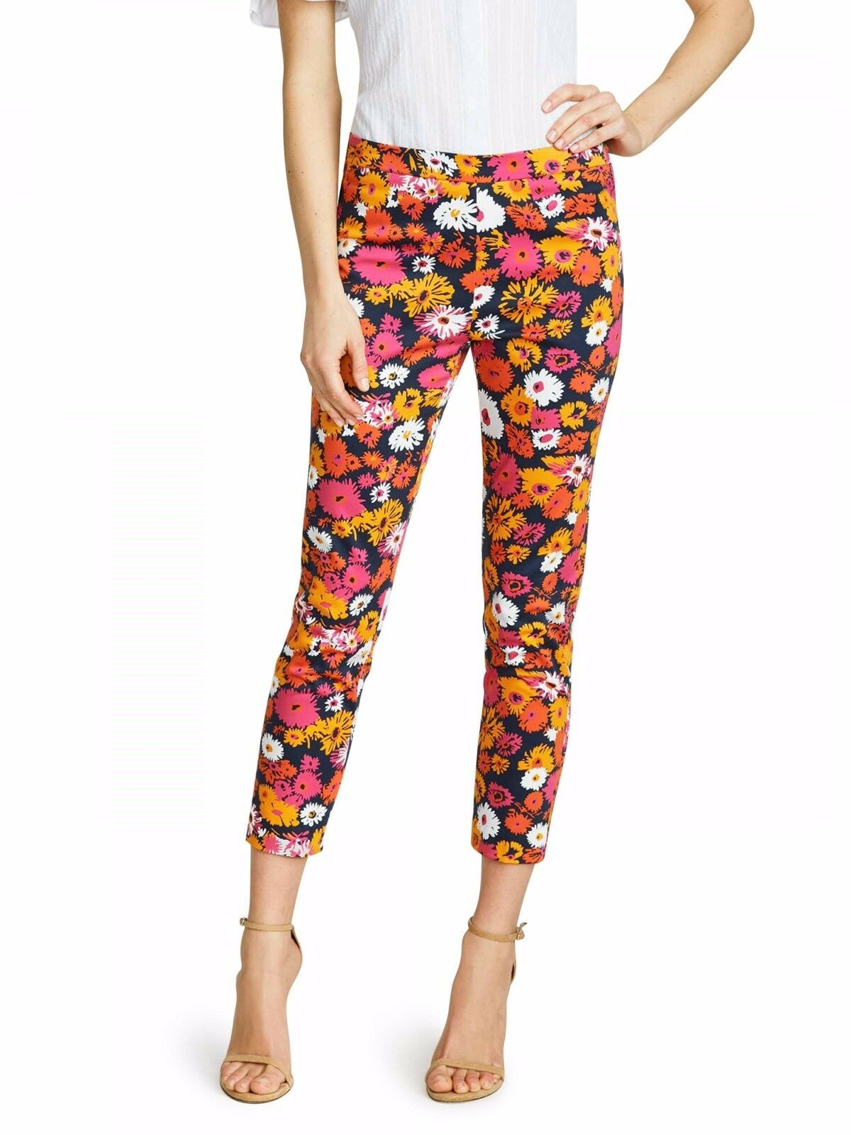 NWT Draper James Darlin' Daisy Knoxville Pant Size 8 Pink Floral Pattern  165