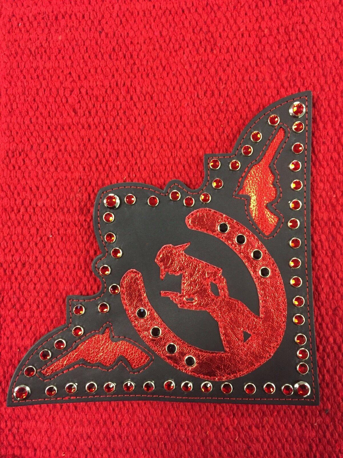 Western Saddle  Blanket Corner Pieces  Riding High USA  buy best