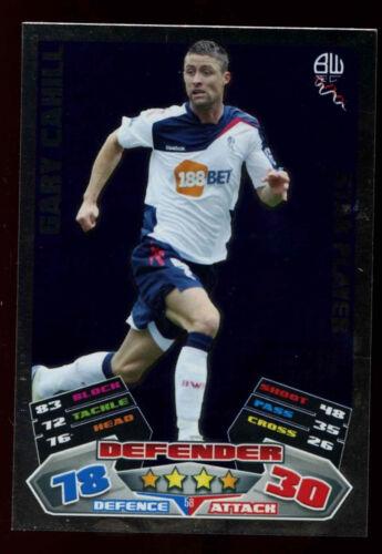 C208 Gary cahill #58 topps match attax football 2011-12 commerce foil carte