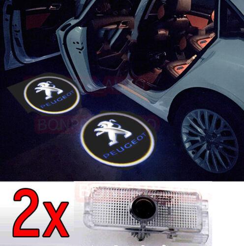 2 X LED Éclairage Porte Lampe Logo Projecteur Peugeot 1007 107 4008  806 807 RCZ