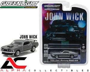 GREENLIGHT-44780-E-1-64-1969-FORD-MUSTANG-BOSS-429-JOHN-WICK-MOVIE-2014