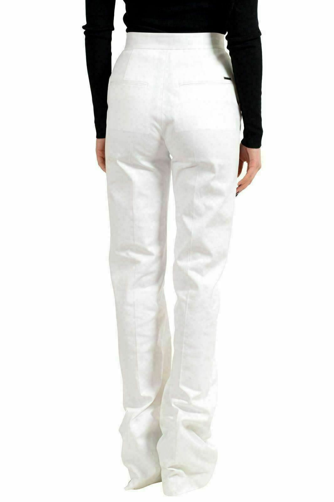 Dsquared2 Bianco Donna Gamba Dritta Pantaloni Casual USA XS XS XS It 38 c58ef5